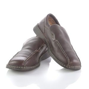 Born Brown Leather Bicycle Toe Loafers Shoes